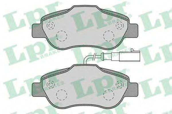LPR 05P1263 Комплект тормозных колодок, дисковый тормоз