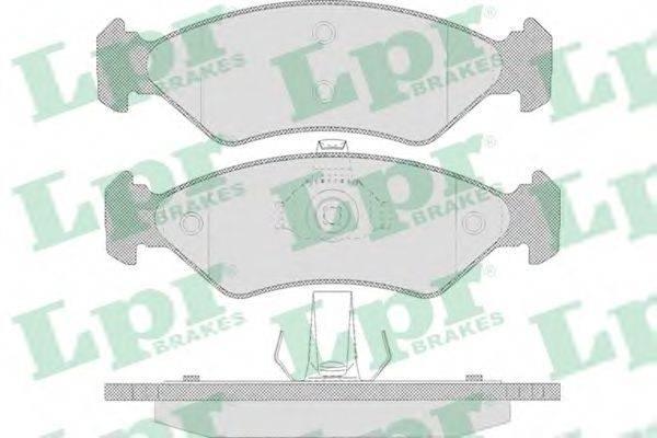 LPR 05P655 Комплект тормозных колодок, дисковый тормоз