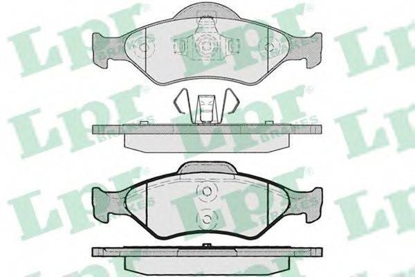 LPR 05P795 Комплект тормозных колодок, дисковый тормоз