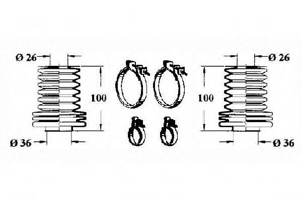 OCAP 0901620 Комплект пылника, рулевое управление
