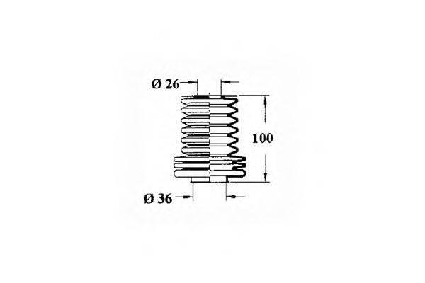 OCAP 1211120 Пыльник, рулевое управление