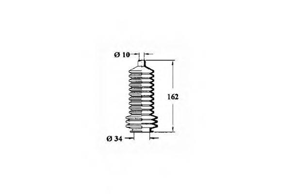 OCAP 1211125 Пыльник, рулевое управление