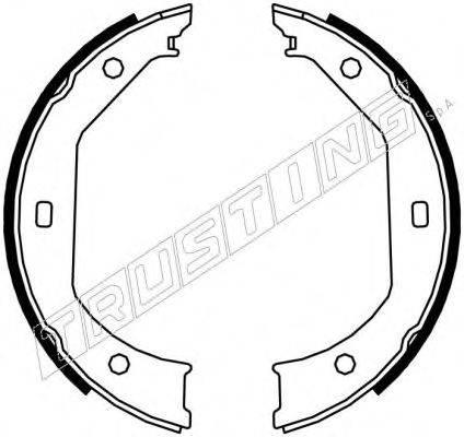 TRUSTING 019027 Комплект тормозных колодок, стояночная тормозная система