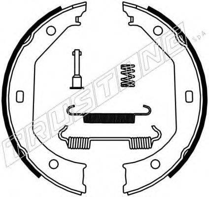TRUSTING 019027K Комплект тормозных колодок, стояночная тормозная система