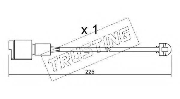 TRUSTING SU075 Сигнализатор, износ тормозных колодок