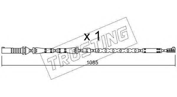 TRUSTING SU284 Сигнализатор, износ тормозных колодок