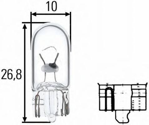 HELLA 8GP003594121 Лампа накаливания, фонарь указателя поворота; Лампа накаливания, фонарь освещения номерного знака; Лампа накаливания, задний гарабитный огонь; Лампа накаливания, фонарь освещения багажника; Лампа накаливания, стояночные огни / габаритные фонари; Лампа накаливания, габаритный огонь; Лампа накаливания; Лампа накаливания, стояночный / габаритный огонь; Лампа накаливания, стояночный / габаритный огонь; Лампа накаливания, дополнительный фонарь сигнала торможения; Лампа накаливания, дополнительный фонарь сигнала торможения; Лампа, мигающие / габаритные огни