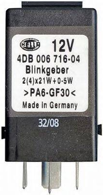 HELLA 4DB006716041 Прерыватель указателей поворота; Прерыватель указателей поворота