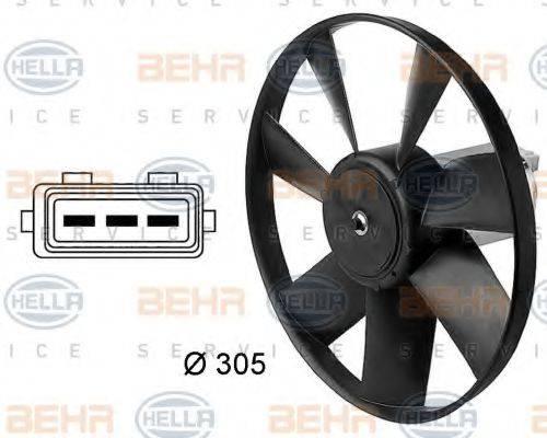 HELLA 8EW009144411 Вентилятор, охлаждение двигателя
