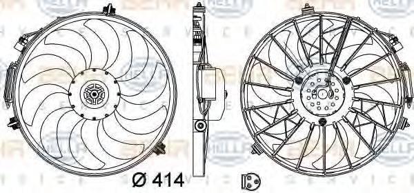 HELLA 8EW009158721 Вентилятор, охлаждение двигателя
