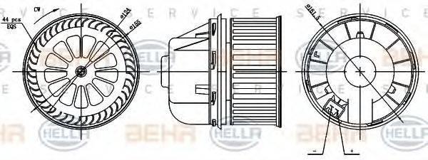 HELLA 8EW351000361 Вентилятор салона