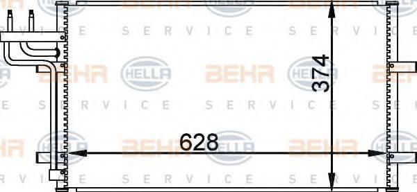 HELLA 8FC351301731 Конденсатор, кондиционер