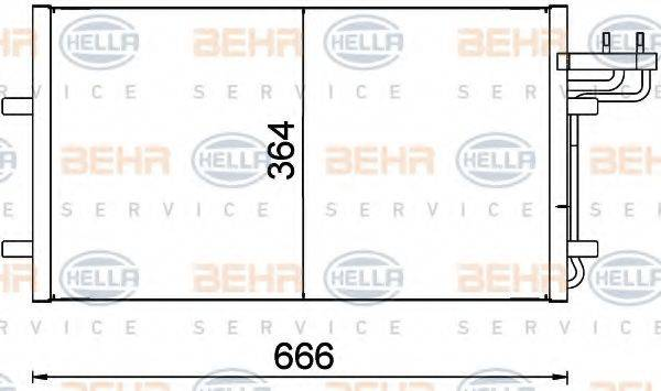 HELLA 8FC351301734 Конденсатор, кондиционер