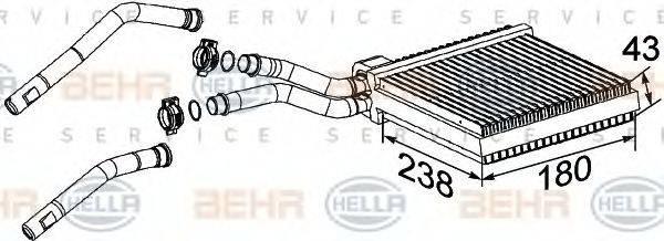 HELLA 8FH351315631 Теплообменник, отопление салона