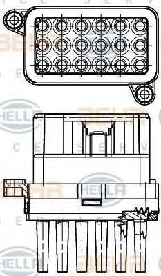HELLA 5HL351332341 Регулятор, вентилятор салона