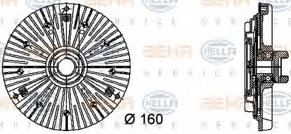 HELLA 8MV376732401 Сцепление, вентилятор радиатора