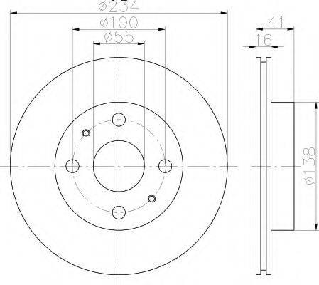 HELLA 8DD355110701 Тормозной диск