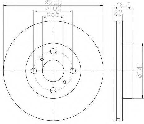 HELLA 8DD355113581 Тормозной диск