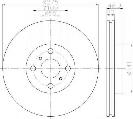 HELLA 8DD355113591 Тормозной диск
