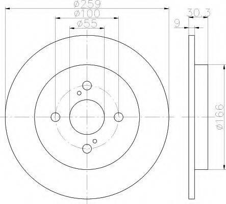 HELLA 8DD355113601 Тормозной диск
