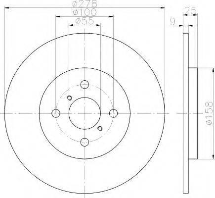 HELLA 8DD355114051 Тормозной диск