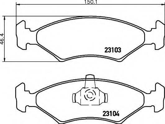 HELLA 8DB355008331 Комплект тормозных колодок, дисковый тормоз