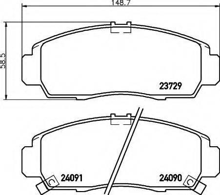 HELLA 8DB355009771 Комплект тормозных колодок, дисковый тормоз