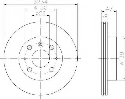 HELLA 8DD355104841 Тормозной диск