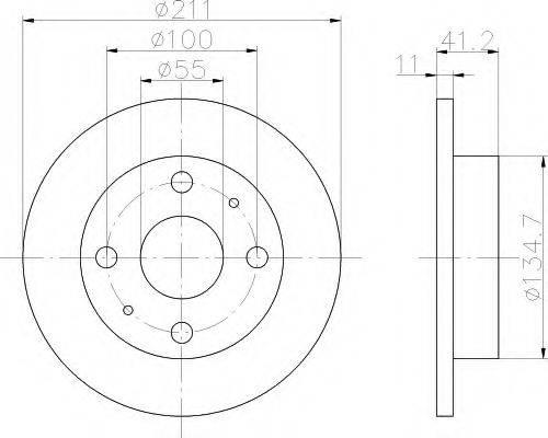 HELLA 8DD355107291 Тормозной диск