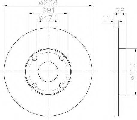 HELLA 8DD355101911 Тормозной диск