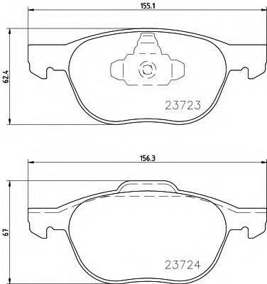 HELLA 8DB355011191 Комплект тормозных колодок, дисковый тормоз