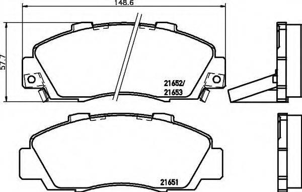 HELLA 8DB355016441 Комплект тормозных колодок, дисковый тормоз