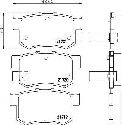 HELLA 8DB355016451 Комплект тормозных колодок, дисковый тормоз