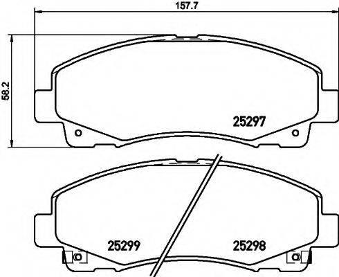 HELLA 8DB355019601 Комплект тормозных колодок, дисковый тормоз