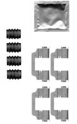 HELLA 8DZ355205321 Комплектующие, колодки дискового тормоза