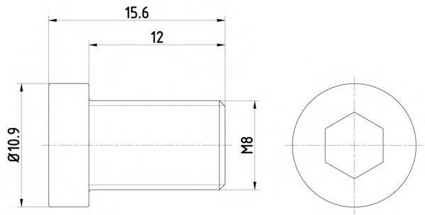 HELLA 8DZ355209091 Болт, диск тормозного механизма