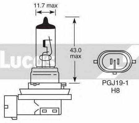 LUCAS ELECTRICAL LLB708 Лампа накаливания, противотуманная фара; Лампа накаливания, стояночный / габаритный огонь