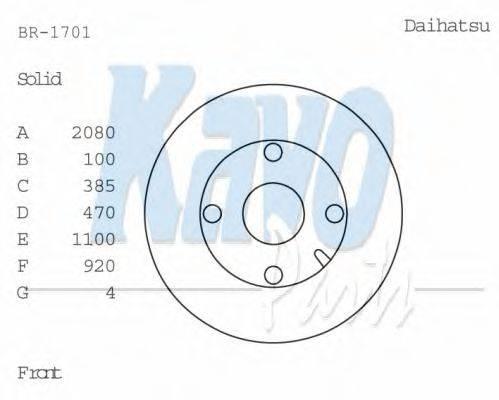 KAVO PARTS BR1701 Тормозной диск