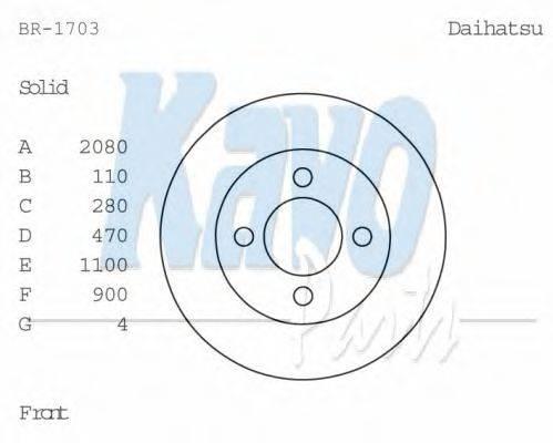 KAVO PARTS BR1703 Тормозной диск