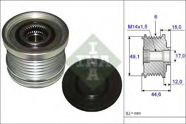INA 535018210 Механизм свободного хода генератора