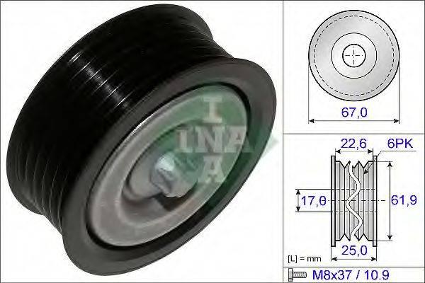 INA 532052610 Паразитный / ведущий ролик, поликлиновой ремень