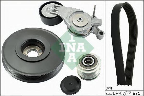 INA 529003610 Поликлиновой ременный комплект