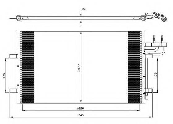 NRF 35551 Конденсатор, кондиционер