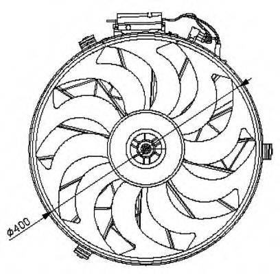 NRF 47028 Вентилятор, охлаждение двигателя