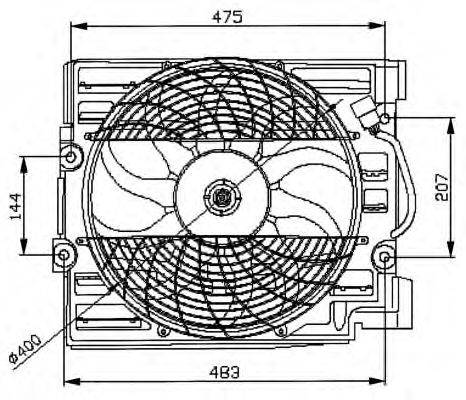 NRF 47029 Вентилятор, охлаждение двигателя