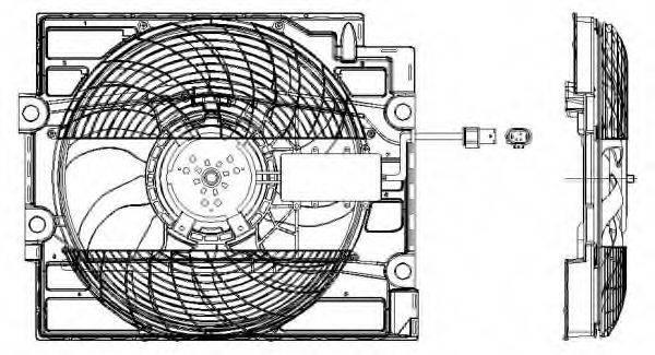 NRF 47211 Вентилятор, охлаждение двигателя