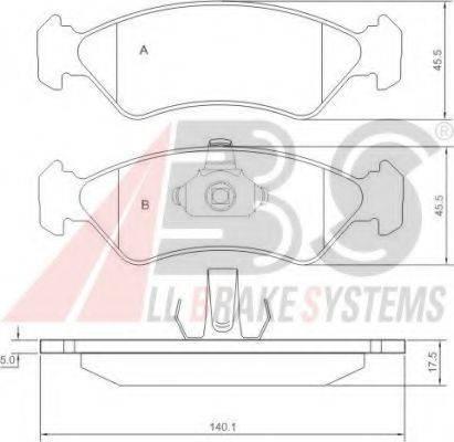 A.B.S. 36996 Комплект тормозных колодок, дисковый тормоз