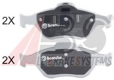 A.B.S. 37195S Комплект тормозных колодок, дисковый тормоз