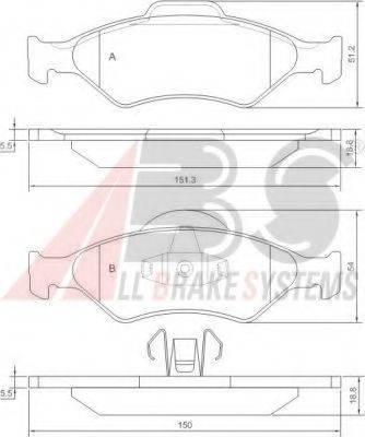A.B.S. 37196 Комплект тормозных колодок, дисковый тормоз