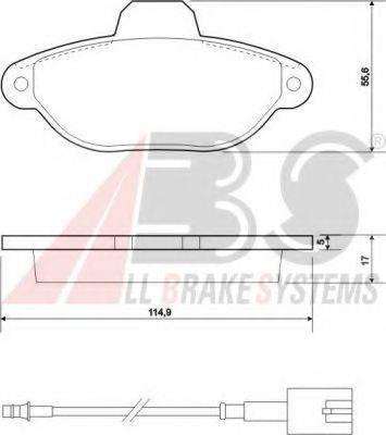 A.B.S. 37595 Комплект тормозных колодок, дисковый тормоз